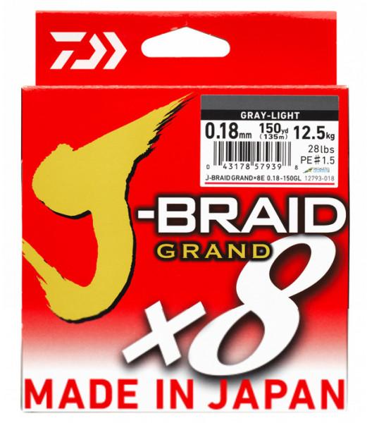 Daiwa J-Tresse Grand X8 40 lb gris clair environ 18.14 kg 150 yds